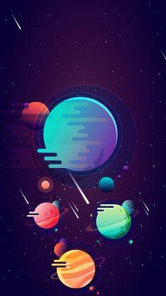 Smartphone wallpaper / Simplistic / Space art / 1080x1920