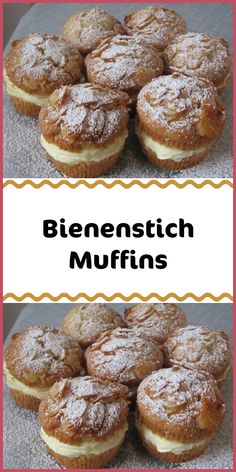 Bienenstich Muffins Ingredients For the topping: 80 g whipped cream 30 g honey clear aromatic 20 g sugar 160 g almond (s) flaky For the dough: 250 g flour (wheat flour) 50 g almond (s) ground 2 ts Easy Cookie Recipes, Baking Recipes, Cake Recipes, Easy Homemade Ice Cream, Chocolate Cake Recipe Easy, Food Cakes, Bakery, Food And Drink, Easy Meals