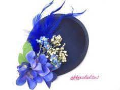 Blau Fascinator *RITA* Hütchen Headpiece von Lebenslust2in1 auf DaWanda.com
