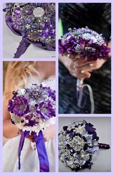 Purple Jeweled Bouquets by Blue Petyl