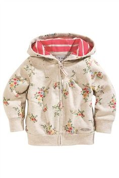 £15 Buy Oatmeal Ditsy Print Zip Through Hoody (3mths–6yrs) from the Next UK online shop