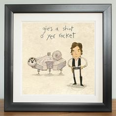 'Gies a shot o' yer rocket' - Stars are braw, print: 29.7cm x 29.7cm - product images
