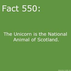 Actually, that title is slightly misleading. The unicorn is one of the two national animals, along with the Red Lion. The unicorn, despite being fictional, was already being shown as a symbol of the Scottish royal family in the 1400s.