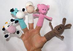 Schaf, Kuh, Schwein,Hase und Pferd als Fingerpuppen sind schnell selbst gemacht.Ideal zum Spielen oder zum Verschenken. Die Anleitung ist in deutsch geschrieben und mit Bildern versehen. Die...