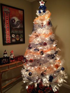 Auburn Christmas Tree. I finally found some orange and blue decorations.