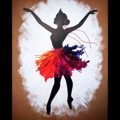 My version: Ballerina dancer crayon art