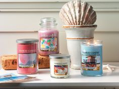 We're ready for summer, are you? Click the candles to see all our new fragrances for the season.