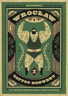 wrocław tattoo konwent | promo posters by Dawid Ryski, via Behance