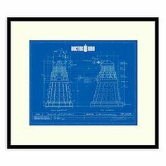 Dalek schematics framed artwork