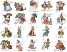 The beatrix potter books are jewels (illustrations!)  Favorite characters: Peter Rabbit, Benjamin Bunny, and Jemima puddle-duck!