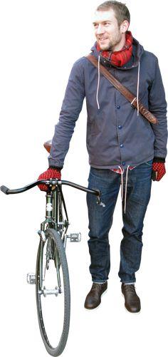 Homem bicicleta