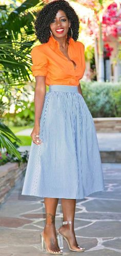 summer outfit shirt + retro skirt