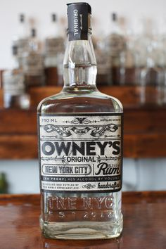 Owney's Original Small Batch Rum from The Noble Experiment NYC - The best rum for a mojito!