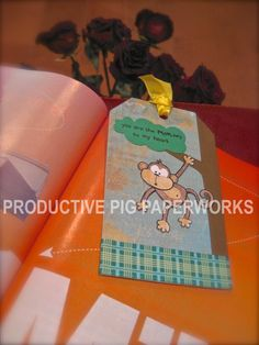 DIY Monkey Bookmark