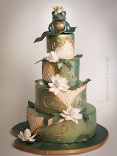 Frog Prince Fantasy Wedding Cake by Sugar Couture - I have looked at more than 900 cakes so far. This one has got to be one of my favorites. :)