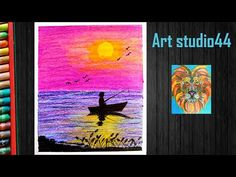 Hello friends, In this video I show you how to draw sunset scenery drawing with oil pastels for kids-step by step- Beginners MATERIALS REQUIRED- Paper Oil Pa. Oil Pastel Drawings, Oil Pastels, Scenery, Make It Yourself, Sunset, Artwork, Youtube, Kids, Painting