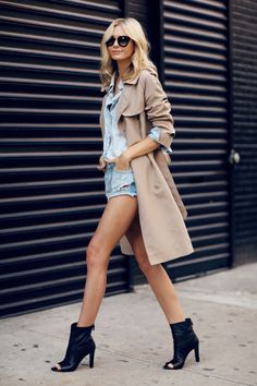 NYFW: Trench Coat + Chanel Boots http://FashionCognoscente.blogspot.com