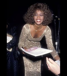 Whitney Houston attends the 21st Annual Songwriters Hall of Fame Induction Ceremony and Awards Dinner at the Marriott Marquis Hotel in New York City, May 20, 1990