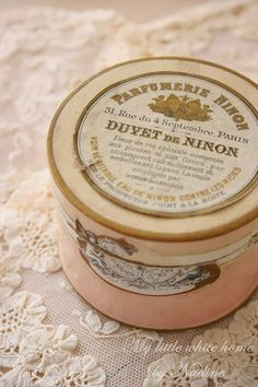 French powder box - I loved exploring all the pretty things in her room.