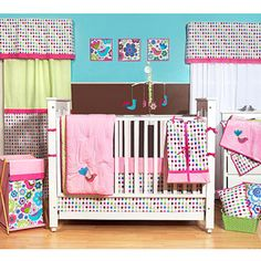ANG YOU KNOW THIS IS CUTE IN AN ODD WAY LOL   Bacati - Botanical 10pc Nursery-in-a-Bag Crib Bedding Set - Value Bundle