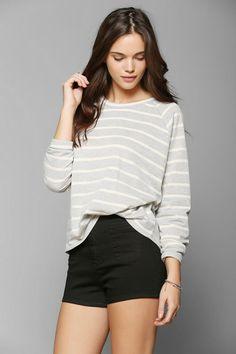 BDG Stripe Raglan Pullover Sweatshirt #urbanoutfitters