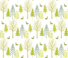 Forest fabric by bethan_janine on Spoonflower