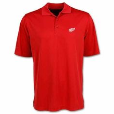 Detroit Red Wings Red Exceed Desert Dry Polo by Antigua – Detroit Sports Outlet