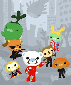 I laughed my socks off when I saw this! Octonauts Avengers!