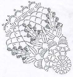 ドイリー : Crochet a little Filet Crochet, Mandala Au Crochet, Crochet Doily Diagram, Crochet Circles, Crochet Doily Patterns, Crochet Chart, Thread Crochet, Crochet Stitches, Crochet Dollies