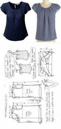 Best Photographs Crochet slippers summer Ideas blusa drapeada no decote com manga baby look T Shirt Yarn, T Shirt Diy, Crochet Shirt, Crochet Baby, Dress Sewing Patterns, Clothing Patterns, Shirt Patterns For Women, Fashion Sewing, Diy Fashion