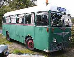 A bus converted with living accommodation.