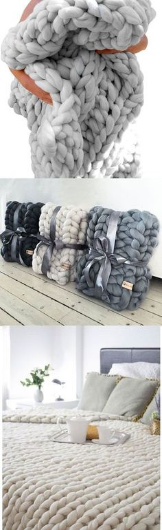 chunky blankets, dark grey chunky blankets, grey white blankets to kits