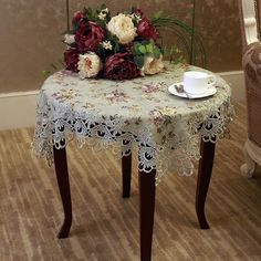 floral round tablecloth