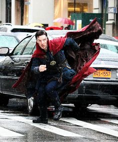 Benedict Cumberbatch filming Marvel Picture's 'Dr. Strange' on April 2, 2016 in New York City