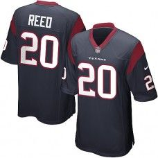 969b289f5 Nike Mens Houston Texans Brooks Reed Jersey 20 Game Team Color Blue Houston  Texans Football