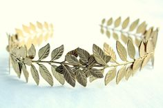 ATHENA Grecian Leaf Headpiece in Raw Brass (via @Diana Moss)