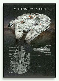 Graphic description of the Millennium Falcon.