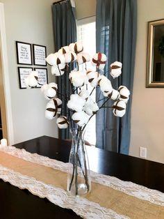 DIY Cotton Stems #farmhouse #cottonstems #diycotton