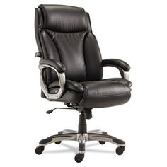 Alera Veon Series Executive High-Back Leather Chair with Coil Spring Cushioning - http://www.furniturendecor.com/alera-veon-series-executive-high-back-leather-chair-with-coil-spring-cushioning-black/