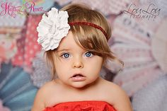 White Baby Headbands.Christmas Headband.Hairbow Headband.Couture Baby Headband.Infant Headband.Toddler Headband..girl Headband.baby.Baby