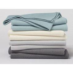 Coyuchi Carmel Washable Blanket Size: King, Color: Natural