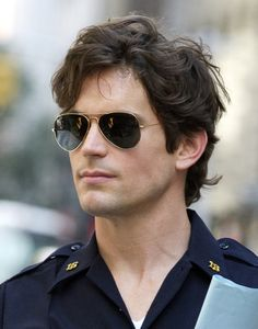 Matt Bomer on White Collar set