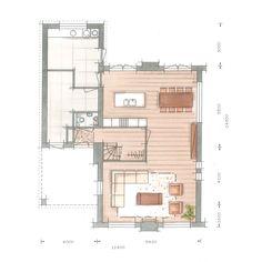 Huis bouwen villa Tandvlinder plattegrond begane grond Interior Design Sketches, House Floor Plans, Door Design, Planer, Beautiful Homes, Building A House, Architecture Design, Brick, Villa