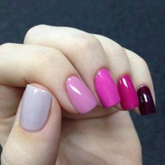 Ombré nails-- never thought of doing this, but i'll give it a try!