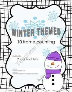 Winter Themed 10 Frame Counting Mats product from 2-Preschool-Gals on TeachersNotebook.com