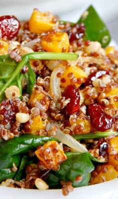 Warm Roasted Butternut Squash and Quinoa Salad