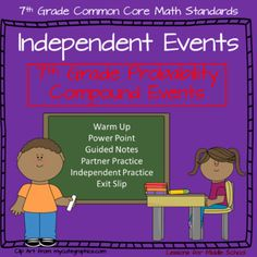 This lesson teaches students about Independent Events of probability and moves into Compound Events.    Students will examine problem sets and work with their teammates to solve problems regarding the probability of independent events occurring as well as compound events.