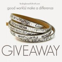 good work(s) bracelet giveaway