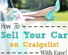 Selling your car on Craigslist doesn't have to be hard. If you take these tips along for the ride, then you can do it quickly and safely and make money!