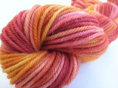 Hand-dyed light worsted wool yarn  from Kauai given to me by my wonderful nieces!!